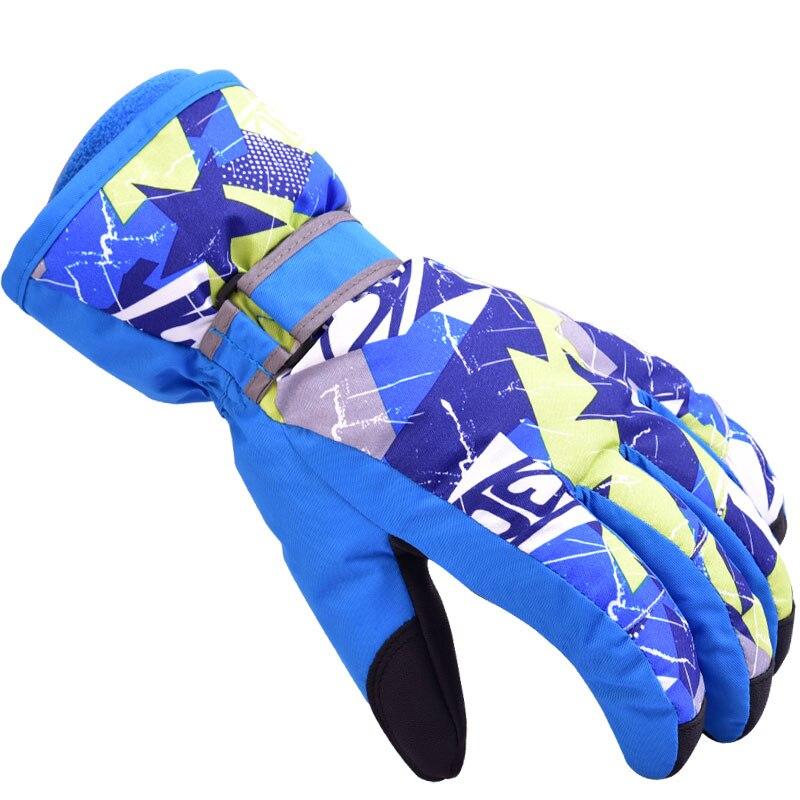Enfants hiver chaud gants de Ski garçons filles Sports imperméable coupe-vent neige gants vélo équitation Snowboard Ski gants enfants