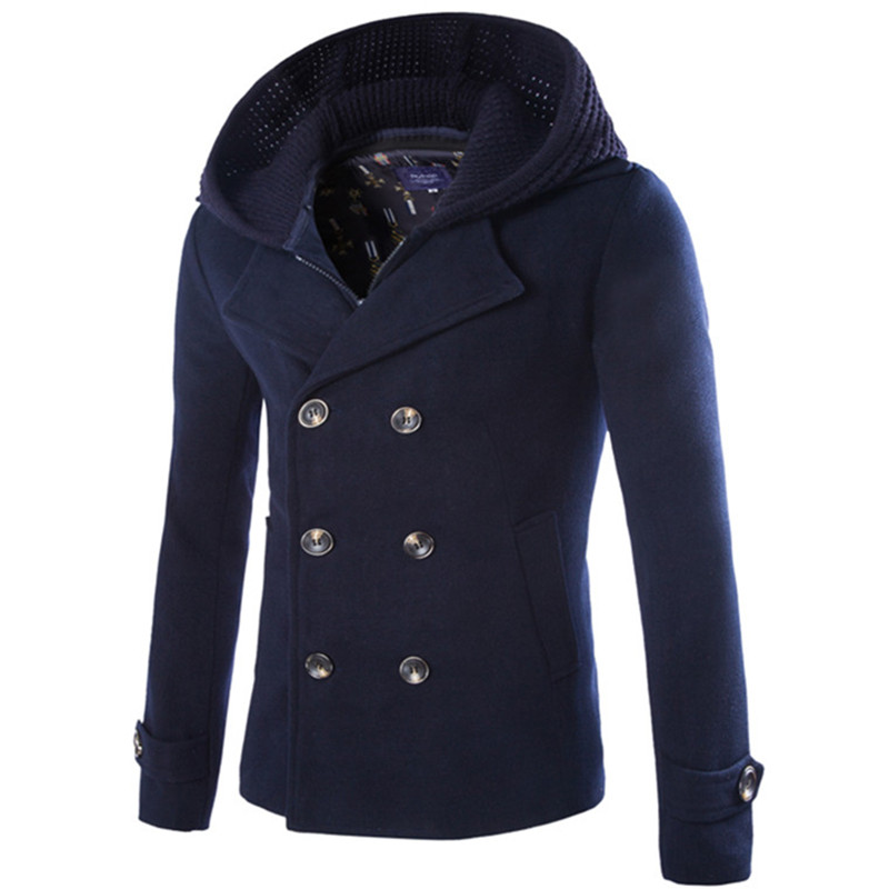 Popular Hooded Wool Coat Men-Buy Cheap Hooded Wool Coat Men lots ...