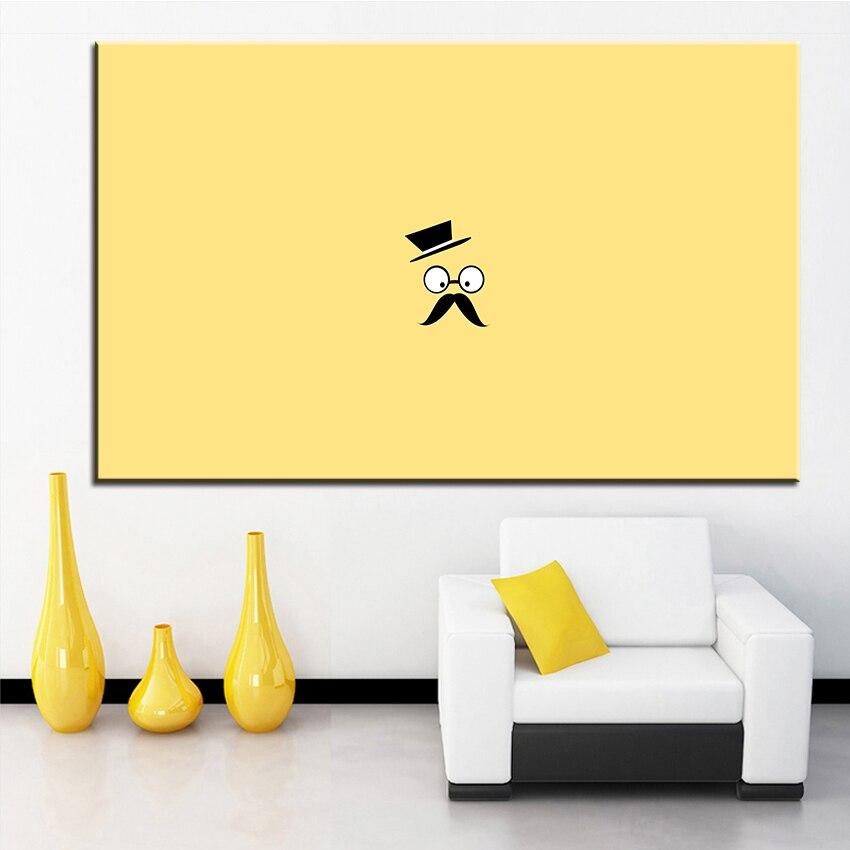 Большой размер печати масляной живописи усы человек вектор Уолл картина декора стен Книги по искусству изображение для Гостиная живопись б...