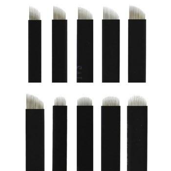 500 Pcs 0.18mm Black Flex 7/9/11/12/14/16/17/18/21 Needle Eyebrow Tattoo Microblading Blades For Permanent Makeup Manual Pen 500 pcs 7 9 12 14 15 16 18 21 microblading needle eyebrow tattoo blades 3d embroidery for permanent makeup manual pen