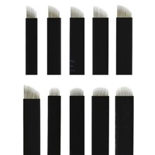 500 pcs 0.18mm 블랙 플렉스 7/9/11/12/14/16/17/18/21 영구 화장 용 수동 펜용 바늘 눈썹 문신 마이크로 블레이드