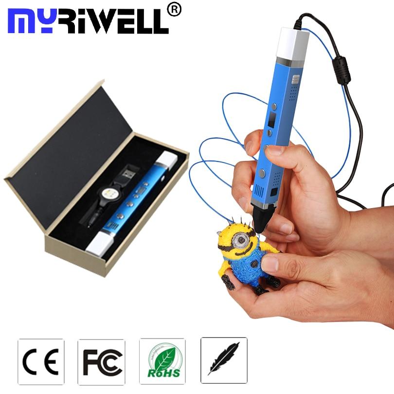 Myriwell Charging Power LED 3D Pen 3rd Generation multi function Magic 3D Pens Add 1 75mm