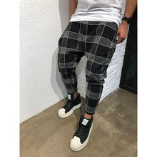ZOGAA 2019 Casual Plaid Ankle-Length Pants Men Trousers Hip Hop Jogger Sweatpants Street Wear men joggers
