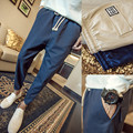 M-4XL 5XL Otoño Delgado Moda pantalones Deportivos Hombres Pantalón Flojo Gota Entrepierna Pantalones Más Los pantalones Tamaño Pantalon Homme De Marque PP33