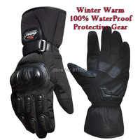 Guantes de moto Guantes de invierno impermeables a prueba de viento Guantes de protección 100% impermeables Guantes Luvas de carreras de motos