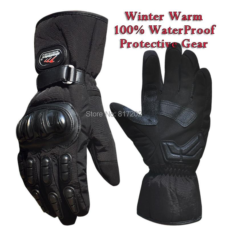 Motorcycle Gloves Winter Warm Waterproof Windproof Protective Gloves 100% Waterproof Guantes Luvas Motorcycle Racing Gloves