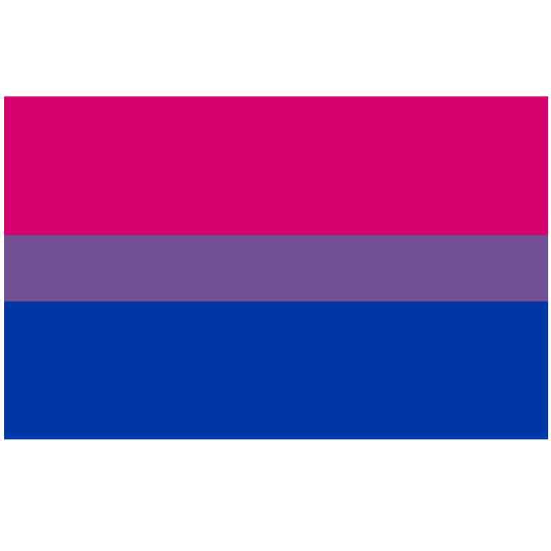 Бесплатная доставка Aerlxemrbrae флаг Би Прайд флаг ЛГБТ размер 90*150 см розовый синий Радужный Флаг Би Прайд ЛГБТ флаг