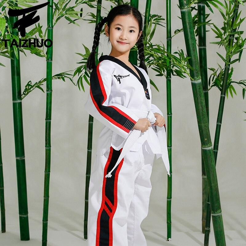 5C Economic kids taekwondo doboks children WTF Taekwondo training clothing for boys and girls literacy acquisition and economic empowerment