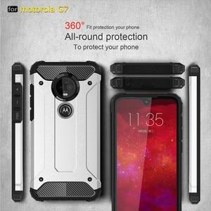 Image 5 - 10 шт. Прочный чехол для MOTO P40 Note P30 power Z4 Play G7 Plus G6 E5 гибридный жесткий, крепкий двухслойный противоударный чехол для телефона