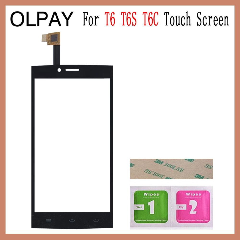 Image 5 - OLPAY 5.0'' Touch Glass Panel For THL T6 T6S T6C Touch Screen Digitizer Glass Sensor Tools Free Adhesive+Clear Wipes-in Mobile Phone Touch Panel from Cellphones & Telecommunications