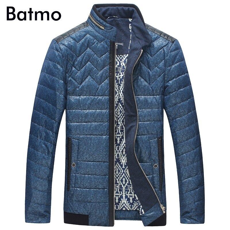 Batmo 2017 new arrival winter high quality 80% white duck down blue jacket men,winter warm coat men 8710