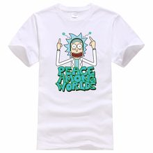 083b974943bc New products Rick And Morty Casual Men T-shirts Funny Design Digital  Printing 100% Cotton T shirts Top Tees Customized