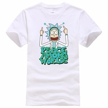New products Rick And Morty Casual Men T-shirts Funny Design Digital Printing 100% Cotton T shirts Top Tees Customized