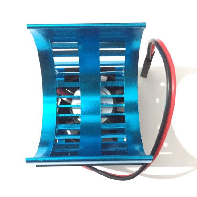 Hot On Sale Blue RC Parts Electric Car Motor Heatsink Cover + Cooling Fan for 1:10 HSP RC Car 540 550 3650 Size Motor Heat Sink