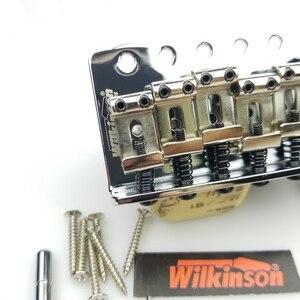 Image 3 - جيتار كهربائي من نوع ST بتصميم كلاسيكي من ويلكنسون مع نظام تريمولو ، جيتار من الكروم الفضي لجيتار سترات WOV01
