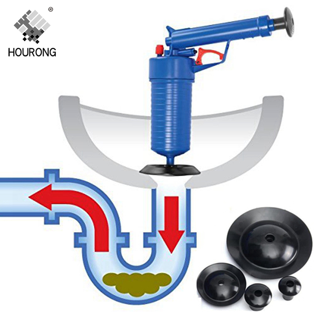 HOURONG High Pressure Air Drain Blaster Pump Plunger Sink Pipe Clog on commercial sink pump, portable sink pump, furnace pump, undercounter sink pump, diy sink pump, bar sink pump, outdoor sink pump, sink drain pump, under sink pump,