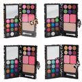 12 Colors Pro Cosmetic Makeup Kit Eye Shadow + Blush + Powder Palette Set with Mirror Tool For Women's Makeup Tool