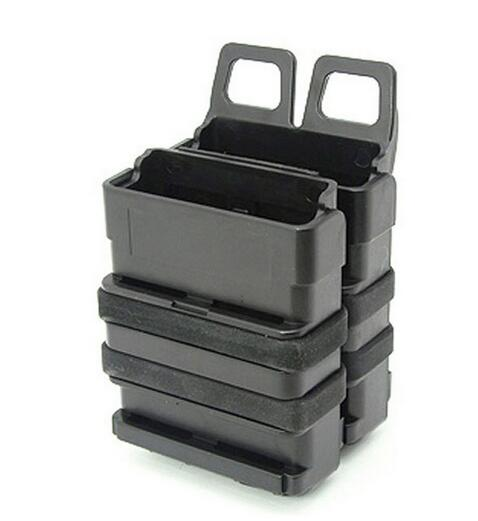 New FAST DOUBLE Magazine Holster Pouch Set MOLLE SYSTEM(BK),FMA Fastmag For M4 MAG Heavy, 5.56mm