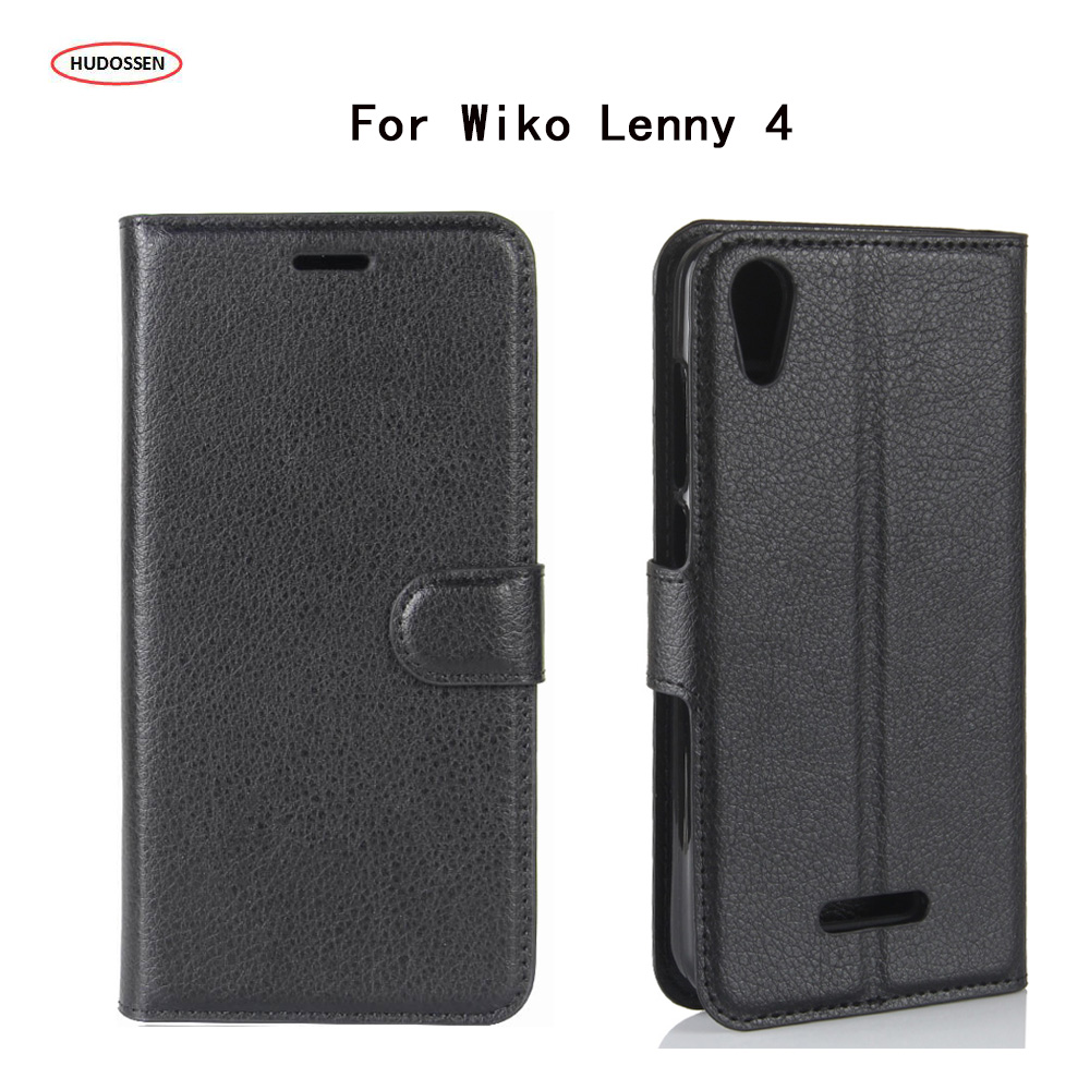 HUDOSSEN For Wiko Lenny 4 5.0 Case Luxury PU Leather Back Cover For Wiko Lenny 4 Case Flip Protective Phone Bags Skin Para