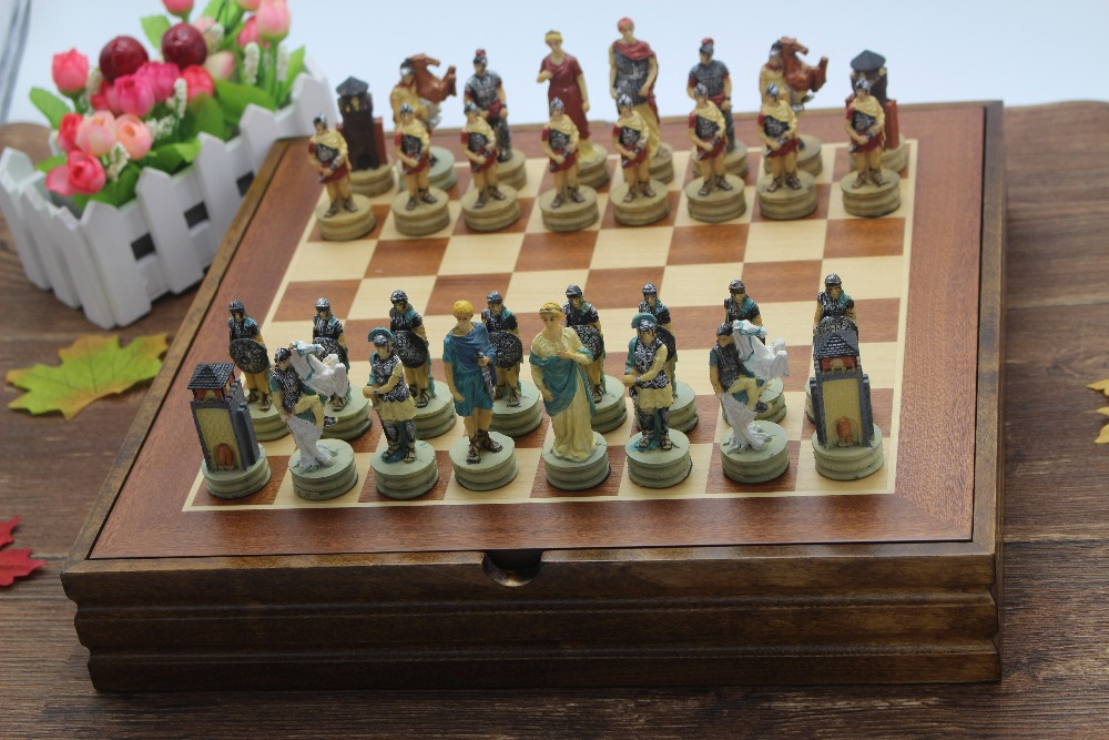 Merveilleux The Ancient Greece And Rome Resin Characters Chess Set Resin Mold Classic  International Cartoon Chess Ancient Chess Nice Gift In Chess Sets From  Sports ...