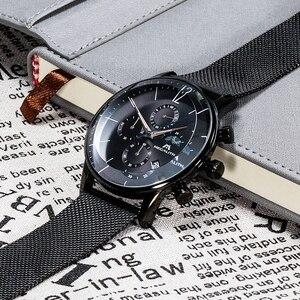 Image 3 - MEGALITH Sport Chronograph Uhr Männer Mode Wasserdicht Montre Homme Männer Datum Analog Quarz Armbanduhr Uhr Relogio Masculino