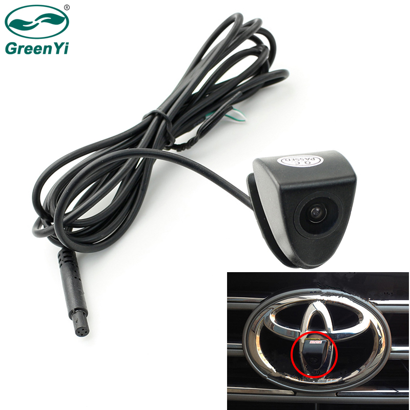 GreenYi CCD HD araba ön görüş Logo için dikiz kamera Toyota Prado Highlander Land Camry