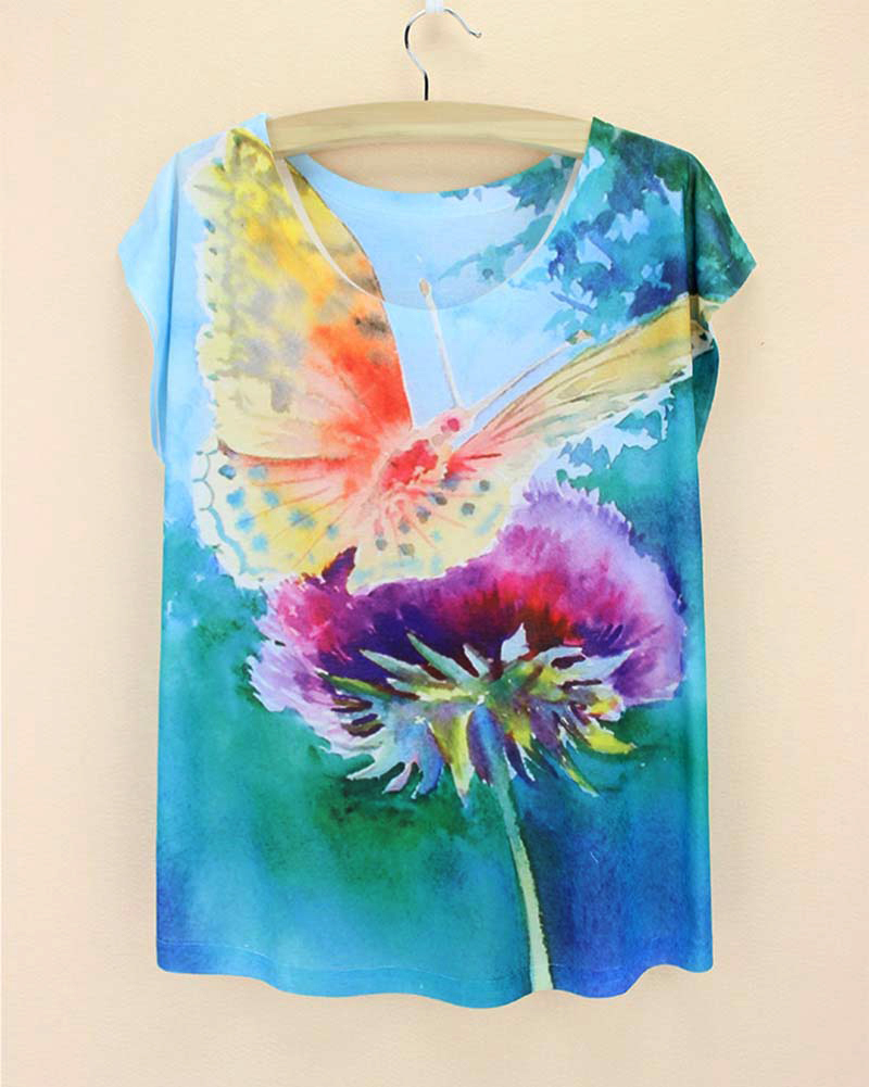 3d printed cotton cheap wholesale women tshirts 2015 for Printed t shirts in bulk