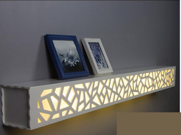 ФОТО Modern minimalist living room wall carved LED background lamp bedroom bedside lamp shelf lamp wall lamp creative