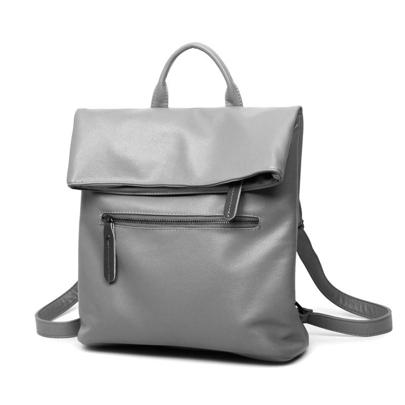 blau Hochwertige Studenten 2017 Schultaschen grau Casual Leder Reisetasche Damen Für Vintage Rucksäcke Mädchen Frauen Schwarzes Jugendliche wxCCTFI6q