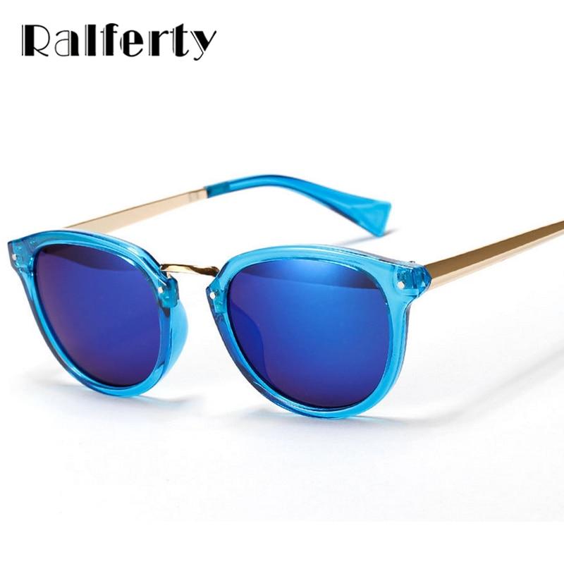 4fec0abe8470ec Ralferty Flash Miroir Lunettes de Soleil Femmes Hommes Lunettes de Soleil  Femme Sport Lunettes UV400 Bleu Couleur Nuances Oculos 1069