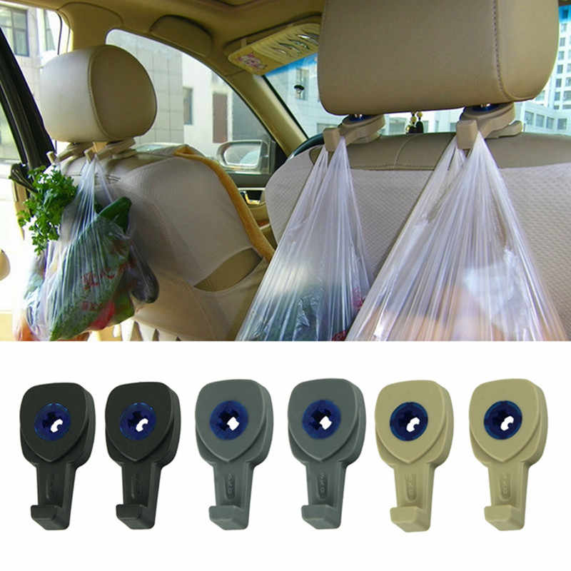 Perfect Fashion Design 2Pcs Portable Car Auto Seat Hanger Purse Bag Organizer Holder Hook Headrest  @002