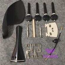 great 1 sets of ebony violin parts, pegs, tailpiece,4/4 violin parts