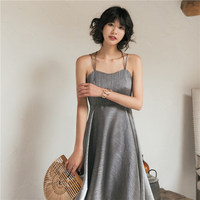 Women Sexy Backless Beach Seaside Vacation Shiny Diamond Strap Dress Summer New Ladies Fashion Elegant Party