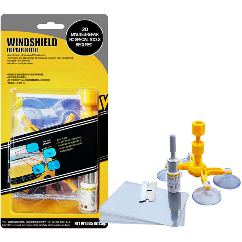 Professional PDR Tool Paintless Dent Removal Car Windshield Repair Kit Chip Carack Auto Glass Windscreen Repair for the Window ...