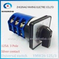 YMW26 125 3 Universal Rotary Switch 3 Position Knob 1 0 2 125A 60V 690V 3