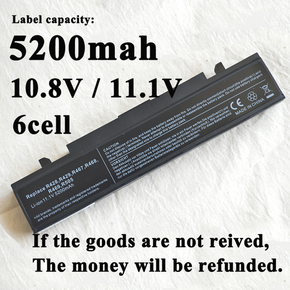 Laptop <font><b>Battery</b></font> for <font><b>Samsung</b></font> AA-PB9NC6B AA-PB9NC5B AA-PB9NS6W NP300E5A RF511 R425 <font><b>R519</b></font> R468 RV428 RC530 np355v5c RV520 NP-RV510 image