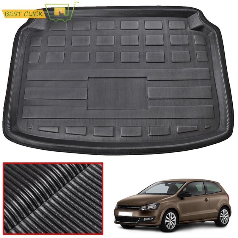 Fit için VW Volkswagen Polo 2010-2017 Hatchback Boot Liner arka gövde Mat kargo tepsisi zemin halısı 2011 2012 2013 2014 2015 2016