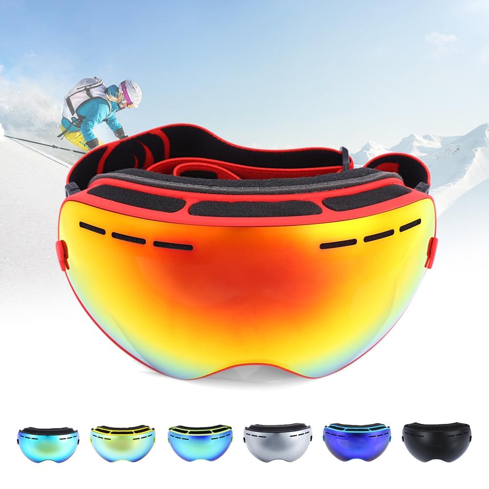 Prix pour Être Belle Unisexe Ski Lunettes Double Lentille UV400 Anti-Brouillard Grand sphérique Neige Lunettes de Ski Snowboard Lunettes Masque Pour Hommes et femmes
