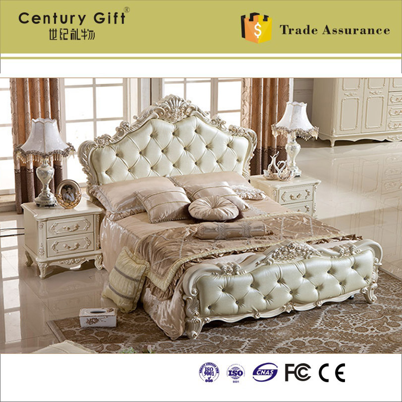 European Solid Wood Bedroom Classical Luxury Furniture