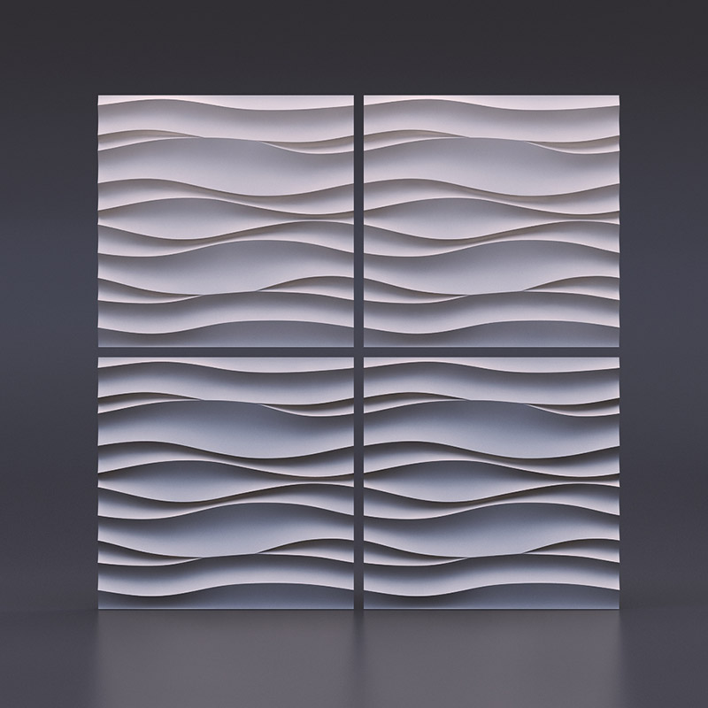 Plastic mold for Plaster 3D Decorative Wall Panels Wave Atlantic NEW Design 2017 year