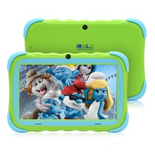 iRULU 7 inch Android 7.1 Kids Tablet 16GB Babypad Edition PC with Wifi and Camera GMS Certified Supported Kids-Proof Case(Green)