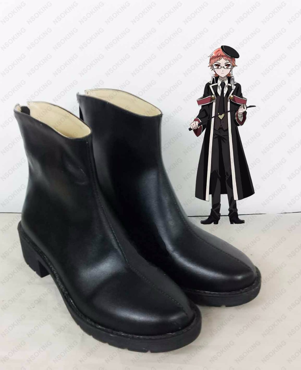New The Royal Tutor Heine Wittgenstein Cosplay Boots Anime Shoes Custom Made