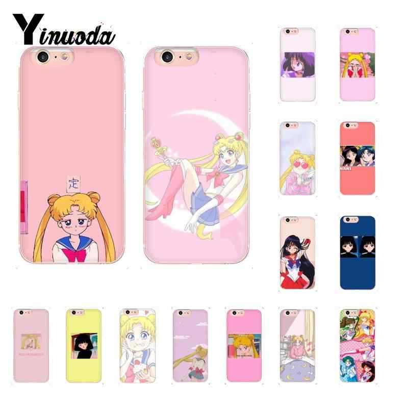 Yinuoda Aesthetic Funny Kawaii Anime Girl Sailor Mars Phone Case