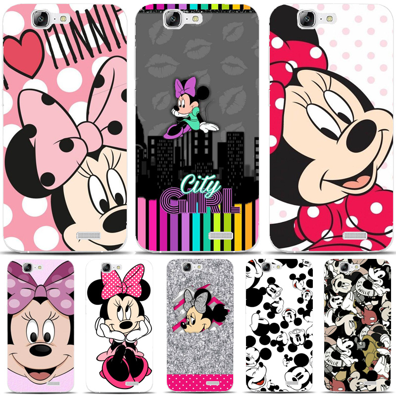 G162 Minnie Mouse Transparent Hard Thin Skin Case Cover For Huawei P 6 7 8 9 10 Lite Plus Honor 6 7 8 4C 4X G7