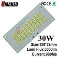 100% полномощный светодиодный прожектор PCB 30 Вт SMD5730  120x52 мм Светодиодная печатная плата  теплый белый/белый источник освещения для светодиодн...