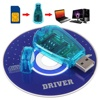 New USB SIM Card Reader Simcard Writer/Copy/Cloner/Backup GSM CDMA SMS Backup WCDMA CD Disk Cellphone Reader  for Windows XP