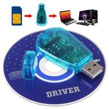 Leitor de cartão sim usb, gravador para cartão sim/para cópia/cloner/de backup gsm cdma wcdma leitor de celular nk- compras de compras