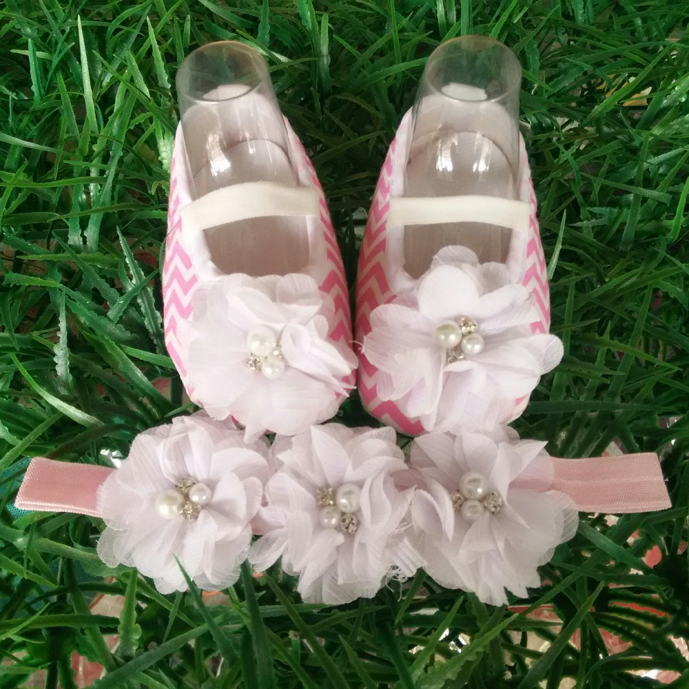 Ivory Christening Lace baby booties sapato bebe menina zapatillas festa baptism baby girl shoes Headbands aby slippers