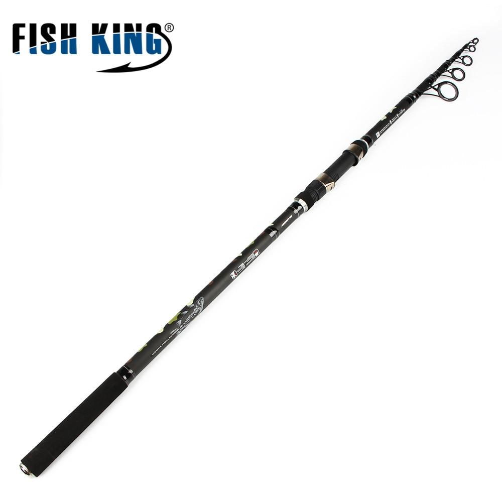 FISH KING Carp Fishing Telescopic Carbon Fishing Spinning Rod Standard 3.6M 3.9M 6 Secs C.W 3.5LBS Rod Peche Pesca Tackle