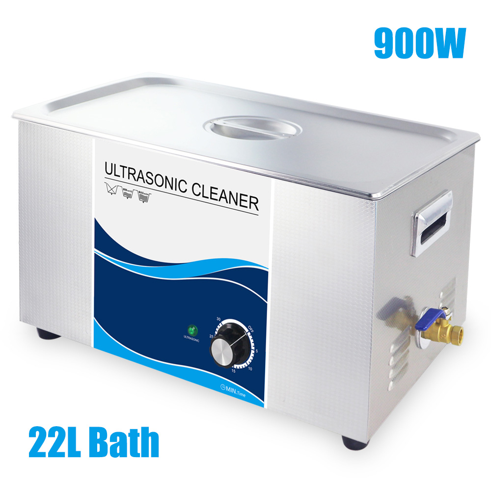 Industrial Ultrasonic Wave Cleaner 22L Bath Ultrasound Lab Medical Hardware Parts Remove Oil Rust Multi Functions Degas Heater